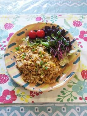 納豆と卵のチャーハン by ももちゃんのれしぴ [クックパッド] 簡単おいしいみんなのレシピが265万品 (25385)
