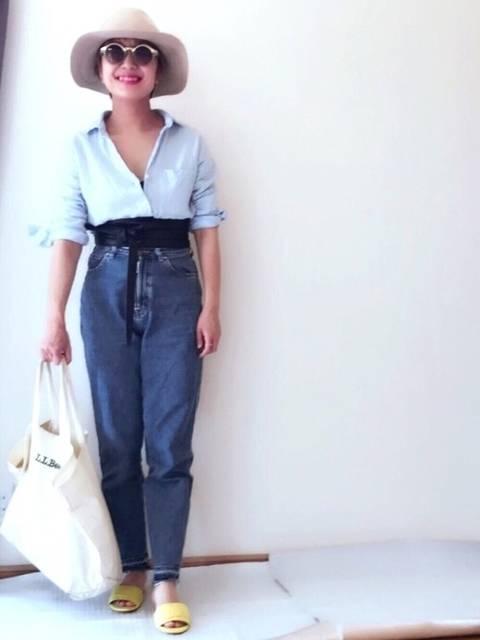 maikoro|SOMETHINGのデニムパンツを使ったコーディネート - WEAR (25891)