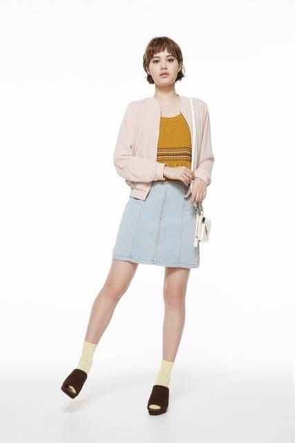 ジーユー|フロントジップミニスカート|WOMEN(レディース)|公式オンラインストア(通販サイト) (27957)