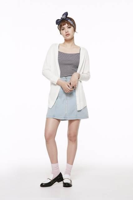 ジーユー|デニムルックタイトスカート|WOMEN(レディース)|公式オンラインストア(通販サイト) (27961)