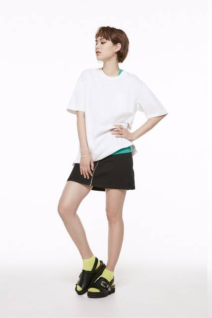 ジーユー|フロントジップミニスカート|WOMEN(レディース)|公式オンラインストア(通販サイト) (28006)