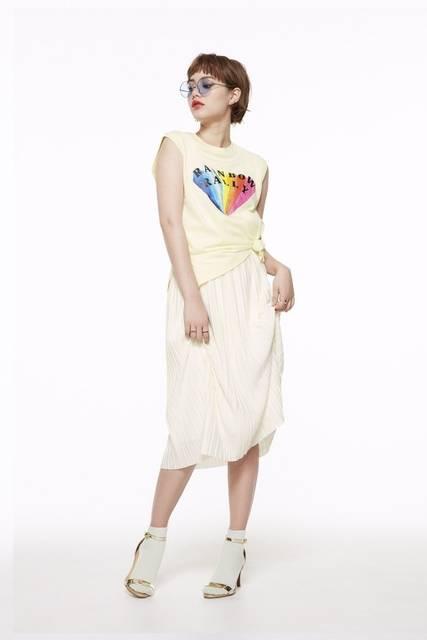 ジーユー|カットソープリーツスカートRG|WOMEN(レディース)|公式オンラインストア(通販サイト) (28013)