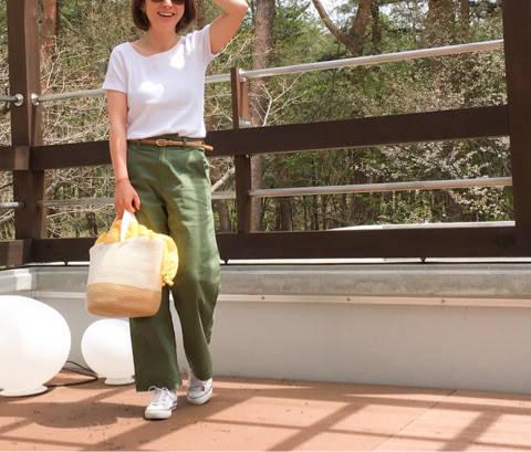 UNIQLOリブバレエネックTのアクティブコーデ。|35歳ママのプチプラを品良く着こなしたいファッションブログ (30570)