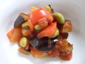 【妊娠中から】夏野菜!枝豆ラタトゥイユ