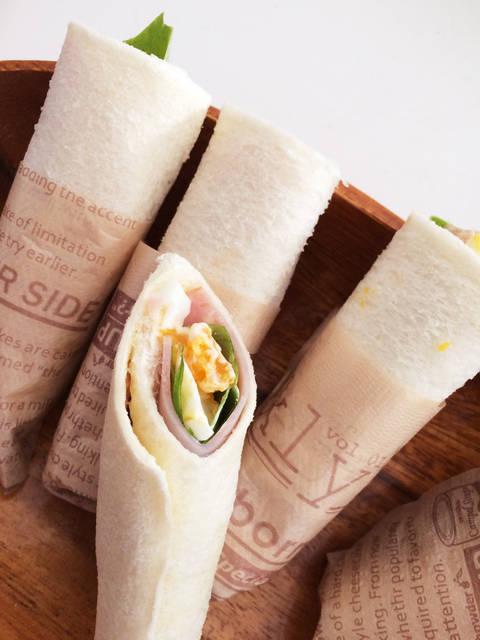 食べやすーい!くるくるロールサンドイッチ