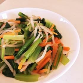 超簡単!小松菜の三色ナムル by y0hk0 [クックパッド] 簡単おいしいみんなのレシピが267万品 (34171)