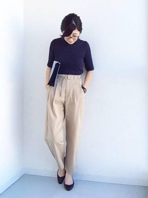 koume|UNIQLOのTシャツ・カットソーを使ったコーディネート - WEAR (39180)