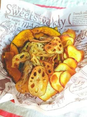 子供のおやつに☆お野菜チップス☆ by えいくるくっく♪ [クックパッド] 簡単おいしいみんなのレシピが268万品 (39757)
