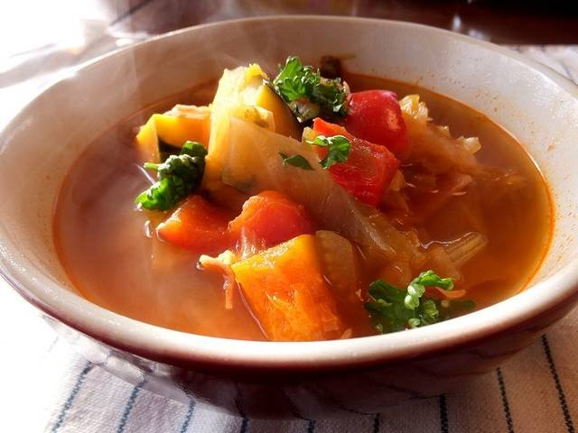 野菜たっぷりトマトスープの作り方