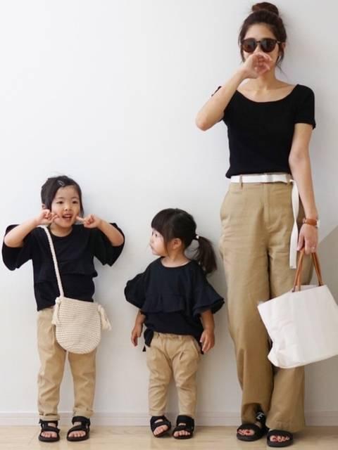 こはママ|ユニクロのTシャツ(半袖 ・タンクトップ)を使ったコーディネート - WEAR (41749)