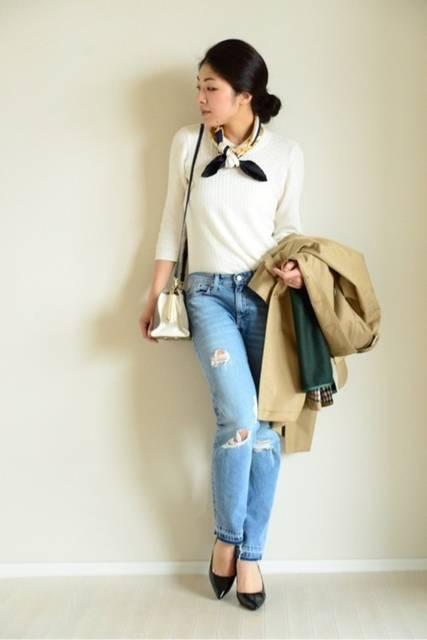 春夏×白シャツ=定番コーデ♪白シャツで着まわす私の1週間コーデ | パレット (44944)