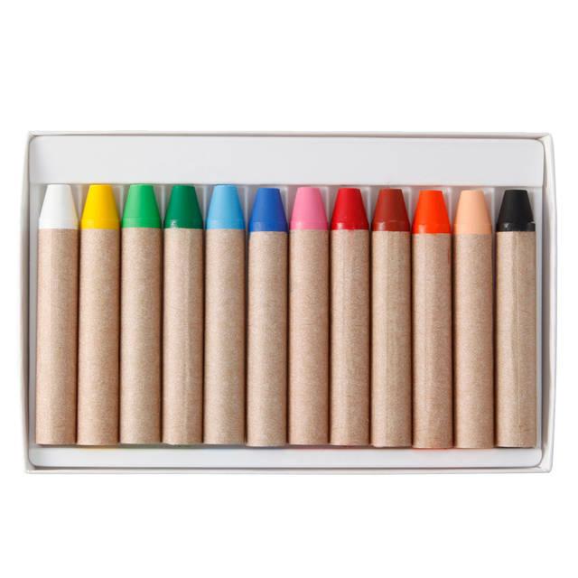 ぬれタオルで簡単におとせるクレヨン 12色 | 無印良品ネットストア (46946)