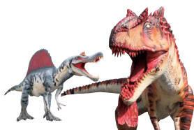 「スピノサウルス」「アロサウルス」動く!ほえる!約7m...