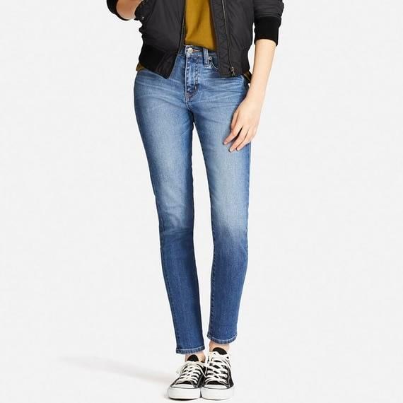 ユニクロ|ハイライズシガレットジーンズ(レングス標準70cm)|WOMEN(レディース)|公式オンラインストア(通販サイト) (52499)