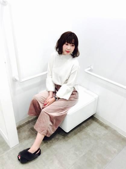 今季トレンドNo.1☆ベロアワイドパンツ|GU SHOP BLOG (56352)