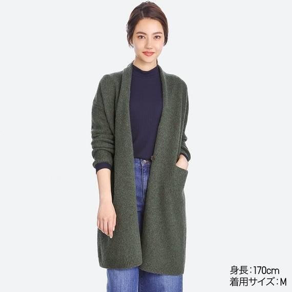 ユニクロ メランジウールコート(長袖) WOMEN(レディース) 公式オンラインストア(通販サイト) (67664)