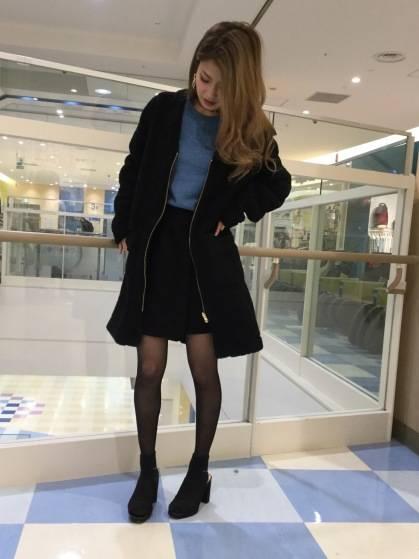 New☆どっちも可愛い♡プチプラ♡リバーシブルボアアウター|GU SHOP BLOG (70552)