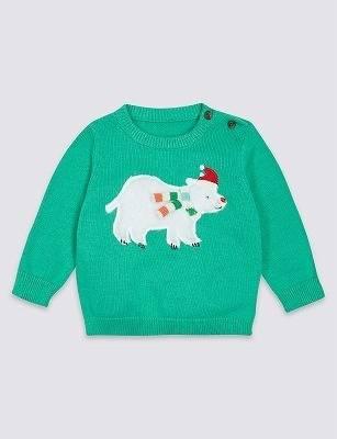 北極ぐまクリスマスセーター65~90cm