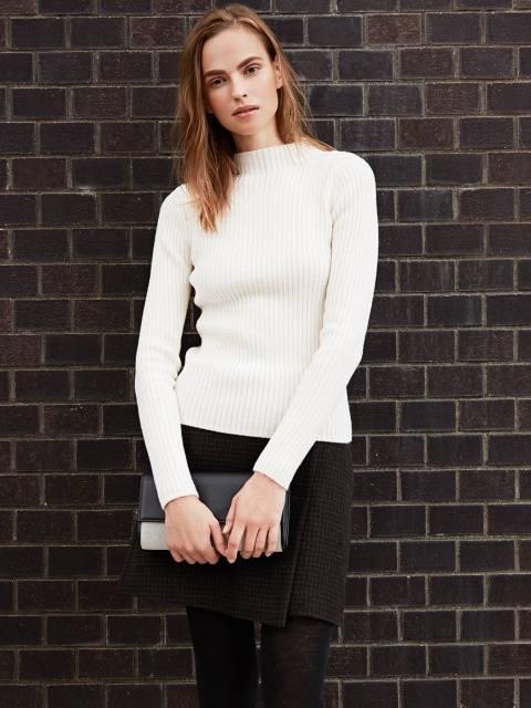 ユニクロ|リブモックネックセーター(長袖)|WOMEN(レディース)|公式オンラインストア(通販サイト) (75604)