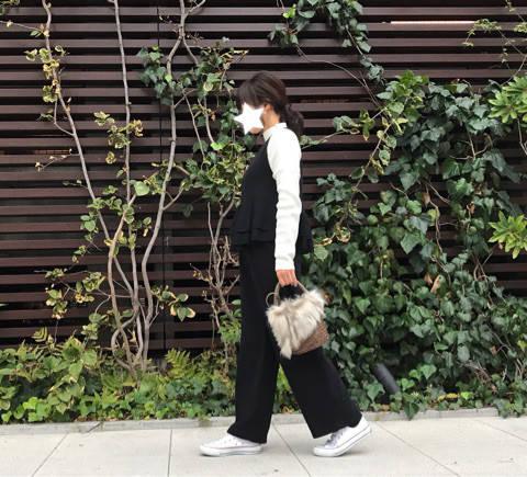 【コーディネート】ポッコリお腹を可愛くカバー☆楽ちんオールインワン|30代からの♡体型カバー×プチプラファッション (75615)
