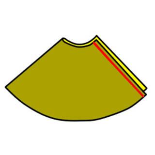 【おさいほう】ウエストゴムの半円フレアスカートの作り方 (75857)