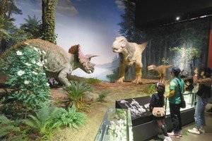 """親子で学ぶぅ(東京新聞) on Twitter: """"茨城県坂東市の県自然博物館で、「#恐竜 たちの生活」コーナーがリニューアルされ、羽毛をまとった #ティラノサウルス など、最新の研究成果に基づいた復元 #ロボット 「動く恐竜」が登場しました。恐竜研究の最新情報が一目で分かります。https://t.co/1LDVFIIEYi https://t.co/9e797TG7a6"""" (77510)"""
