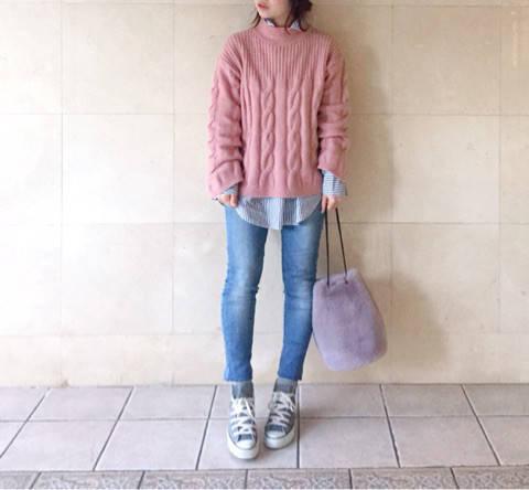 coordinate*UNIQLO×DHOLICの重ね着防寒コーデ♡|PinkParfait♡大人girlish my closet♡ (80150)