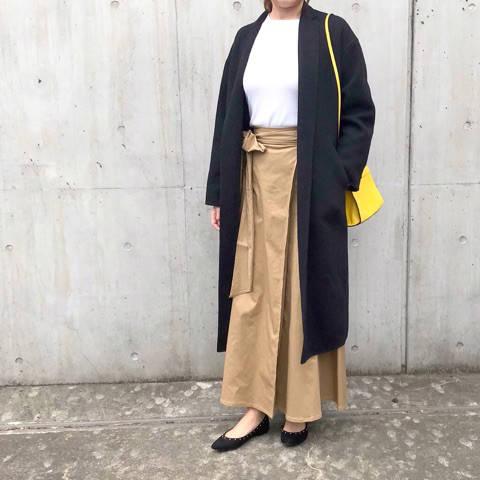 gu新作チノフレアマキシスカートで春先取りコーデ|riemama☆大人シンプルコーデ♡ (80601)
