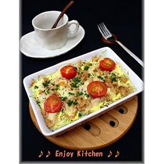 朝ごはんに!ツナ&キャベツのチーズ焼き by Enjoy Kitchenさん | レシピブログ - 料理ブログのレシピ満載! (81949)