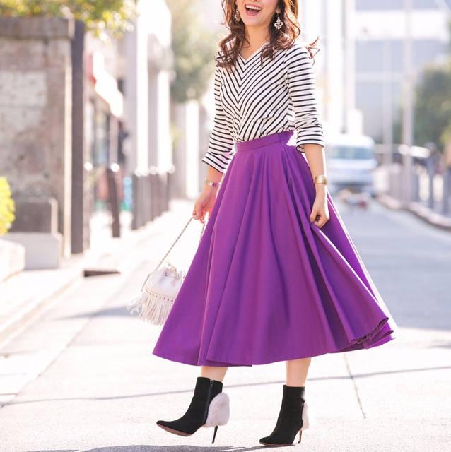 """山本みらい (Mirai Yamamoto) on Instagram: """". 届くのを楽しみにしていたコラボのスカート。 どの色も好きで、全色手元に揃いました(^^) . 着膨れを防ぎながら、足元に行くほどに広がる綺麗なシルエットで気に入っています。 . @sylph_official #bonnsylph .…"""" (82541)"""