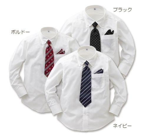 西松屋|ブロードネクタイ付き長袖シャツ
