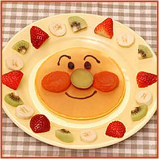 アンパンマンのオレンジパンケーキ | アンパンマンレシピ  | アンパンマン ハッピードリンクひろば | アサヒ飲料 (83393)