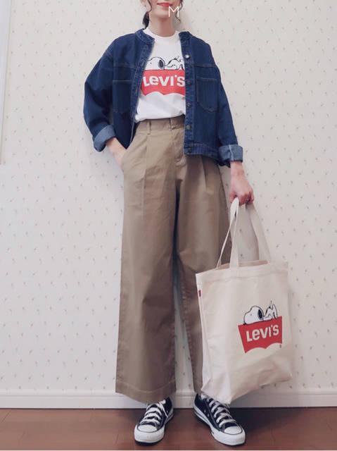 色違いで欲しい!楽チンワイドパンツで春先取り♪|幸せになるための大人可愛いファッションブログ (83743)