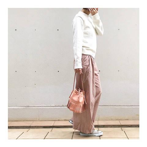 ベージュコンバースで春色コーデ☺︎|ami's シンプルファッション dialy☆ (84165)