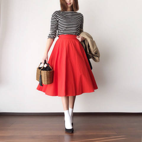 ♥コーデ♥サーキュラースカートとUNIQLO/GU限定価格!|BIBIのママコーデ&美容ブログ♥ (84830)