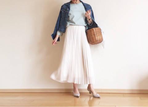 UNIQLO シフォンスカートで春コーデ|ママの高見えするプチプラコーデ♡ (85875)
