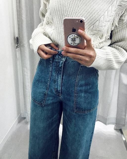 "ʏ ᴜ ᴋ ɪ☽ on Instagram: ""👖 . 全身gu♡ . この春デニム欲しくて 三田のgu仕事終わりよったら ラス1やった😂 . . #ベイカーバギージーンズ ✭ . . #gu #gucode #denim #denimfashion #fashion #instafashion #code #ootd…"" (87880)"