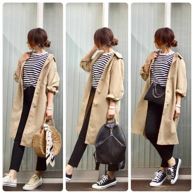 "Miyu☺︎ on Instagram: "". . . GU♡ #ステンカラーロングコート . . ブログ更新してます◡̈⃝⑅ . . coat#gu @gu_for_all_ →ステンカラーロングコート long t-shirts @agnesb_officiel denim#uniqlo @uniqlo_ginza…"" (88385)"