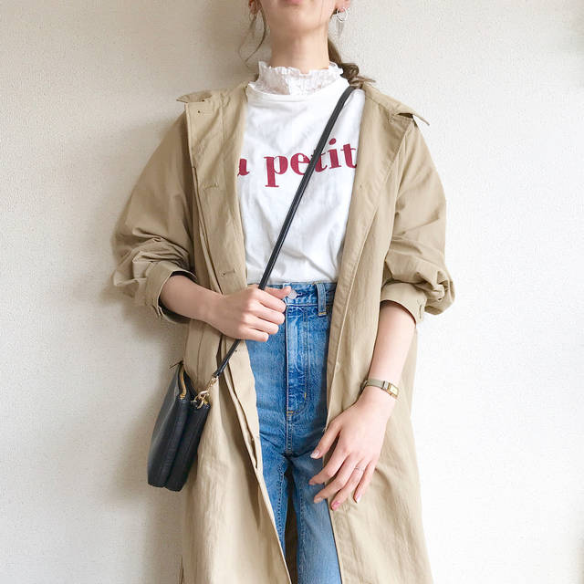 "ma on Instagram: "". お久しぶりのp o s t ✉︎ ¨̮ . . 今日のコーデ outer☞#GU T-shirt☞#zarakids  denim☞#GU inner☞#GU bag☞#coach watch☞#ete . . #ステンカラーロングコート…"" (88386)"