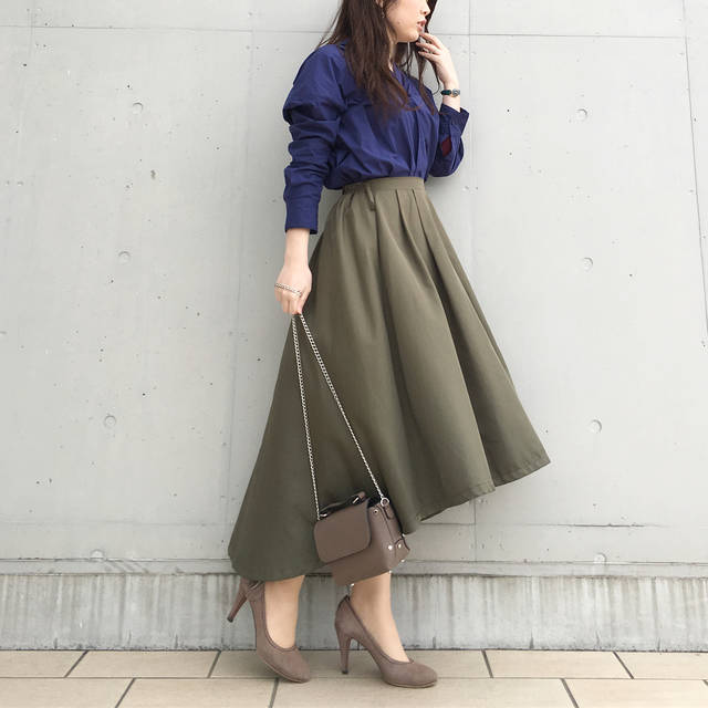 "コスメコンシェルジュ💋 Chisa on Instagram: ""20180318 #今日のコーデ #今日の服 * #とんこーで shirt: (@uniqlo_ginza ) skirt: (@basement_online ) shoes: (@lanvin_en_bleu_official ) ▶︎bag: @kobe_lettuce…"" (88501)"