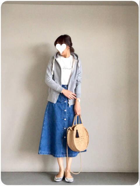 カジュアルなのに女性らしい♡から2枚買いしちゃったGUスカート | yu-co's CLOSET~プチプラで♡きれいめカジュアルな毎日ママコーデ (90506)
