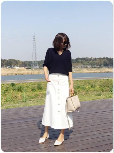 【GU】旦那さんにオススメされて2枚買いしたスカート | yu-co's CLOSET~プチプラで♡きれいめカジュアルな毎日ママコーデ (90508)