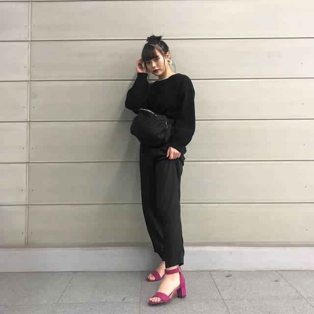 """木村なつみ Natsumi Kimura on Instagram: """"GUさんのサンダルだるだるだるさん!きれいめのパンツと合わせてみたけどカジュアル系にも合いそう~❤・#gu#gupr#gu_for_all#ストラップサンダル#アンクルストラップサンダル#フェミニン @gu_for_all_"""" (90851)"""