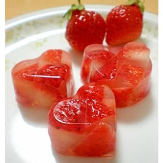 赤ちゃんのおやつ・デザートに♪イチゴの寒天ゼリー♪ レシピ・作り方 by はちわれ413|楽天レシピ (91538)