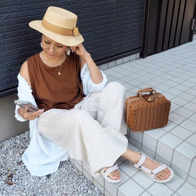 "nozomi on Instagram: "". ɢ०ᵒᒄ ʍᵒʳᐢⁱᐢᵍ◡̈⃝♡ . . GWが目前で とりあえずウキウキが 止まらないよ−😆💕 て、特に何ってゆー イベントがあるわけじゃ ないんだけど← . . #gu の#リネンブレンドワイドパンツ 👖 お気に入りすぎて 実際、もう何度も穿いている←…"" (92101)"
