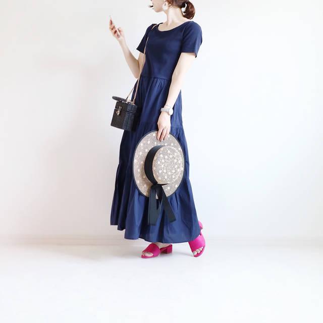"""yonnie on Instagram: """"𓅹 ・ ・ こんばんは✩ ・ 今日は雨の降らないうちに ささっと外出👦🏻👧🏻 ・ 買ったばかりのGUワンピ、着れました♡ トップはリブでコンパクト、 スカート部分はボリュームたっぷり! ・ プチプラなのに本当に優秀♕ これは買いです\(◡̈)/♥︎ ・ ・ dress…"""" (93047)"""