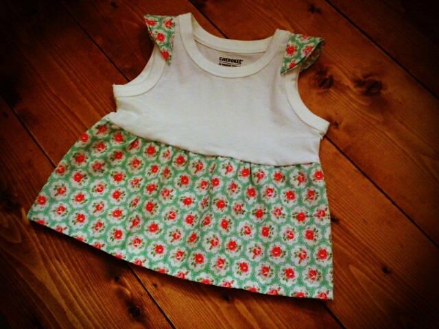 ■チクチクヌイヌイ Cath Kidston46cm×55cmで作る子供服 リメイクワンピース | Atelier Livre D'images (94689)