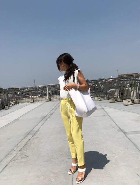 全色買いしたGUのトップスでキレイ目コーデ♡ | 2児ママ アラフォー よっしぃのブログ (96213)