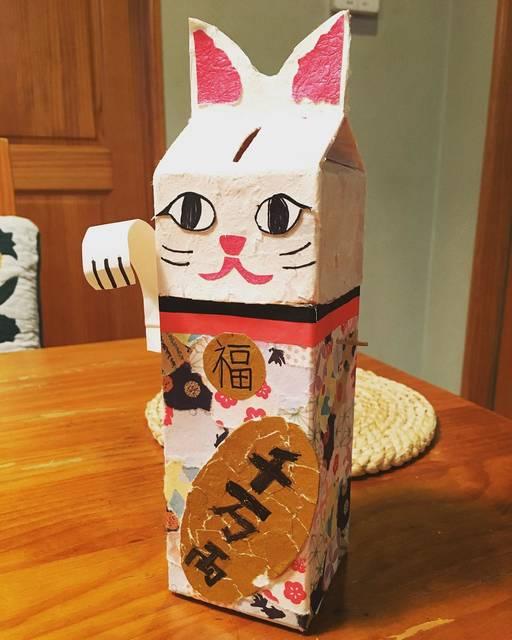 """rumi on Instagram: """"おととし夏休みの宿題で三男が作った貯金箱👬いまコレに500円玉を貯めてる😙2017スタート!…"""" (97940)"""