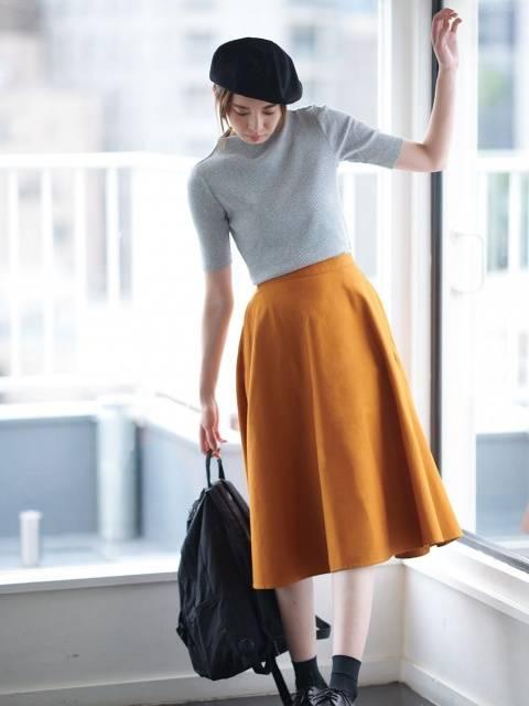 ユニクロ|コットンサーキュラースカート(ハイウエスト・丈標準74~77cm)|WOMEN(レディース)|公式オンラインストア(通販サイト) (98523)